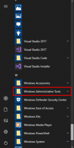 Windows Admin Tools Folder